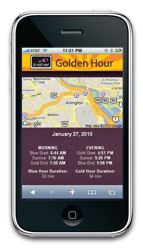 NEW iPhone Golden Hour App   b-roll net